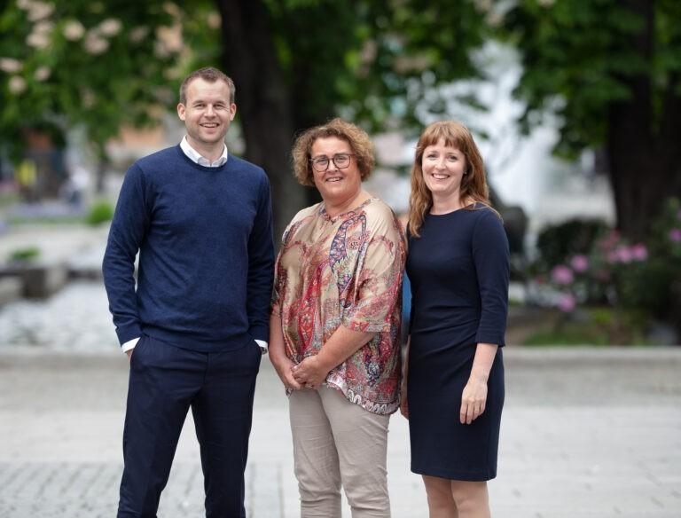 Smilende partiledelse, Kjell Ingolf Ropstad, Olaug Bollestad og Ingelin Noresjø