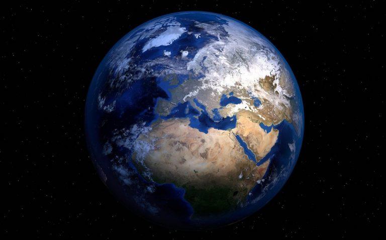 Bilde av verdensrommet. Illustrasjonsbilde.